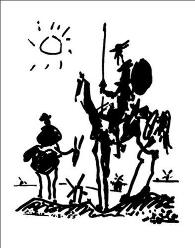 Unbekannt Pablo Picasso Don Quixote Poster 11 x 14