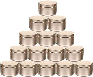 WINOMO 24 st godisburkar låda ljus tenn burkar tomma kakburkar metall metall förvaringsfodral örtburk för gör-det-själv lj...