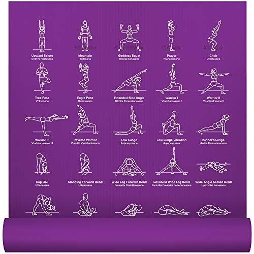 NewMe Fitness Exercise Yoga Mat - Yoga Mat for Women - 24