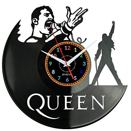 """EVEVO Queen Reloj De Pared Vintage Accesorios De Decoración del Hogar Diseño Moderno Reloj De Vinilo Colgante Reloj De Pared Reloj Único 12"""" Idea de Regalo Creativo Vinilo Pared Reloj Queen"""