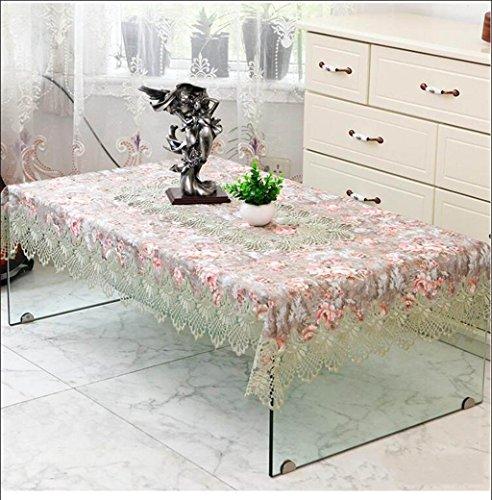 TABLECLOTH kant thee tafel rond tafelkleed, restaurant banket rechthoekig tafelkleed TV koelkast bloemenstandaard plaats doek (kleur: H, grootte : 110 * 160cm)