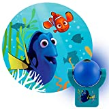 Projectables Finding Dory LED Night Light, Plug-in, Dusk-to-Dawn, Image On Ceiling, Wall or Floor, Ideal for Bedroom, Nursery, Bathroom, 37709, 1-Pack