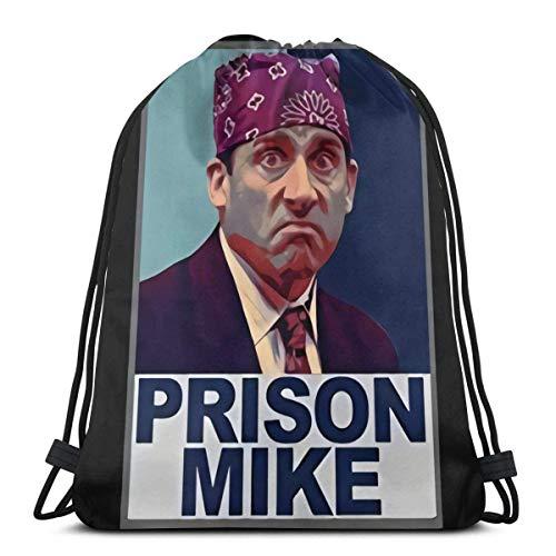 TV-Show Michael Scott Gefängnis Mike Drawstring Bag Umhängetaschen Sport Aufbewahrungstasche Für Mann Frauen
