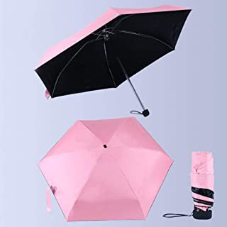 Mini Pocket Umbrella Sun Protection Fashion Folding Rain Parasol Female Gift Girls Anti UV Waterproof Portable Travel Umbrella