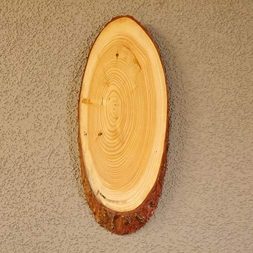 GTK - Geweihe & Trofee KRUMHOUT lariks rood hert schild trofeeschild gewei boomschijf boomschild natuur hout modern