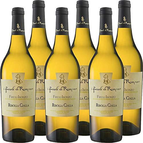 Ribolla Gialla IGT   Friuli Isonzo   I Feudi di Romans   Vino Bianco Tipico del Friuli   6 Bottiglie 75 Cl   Idea Regalo