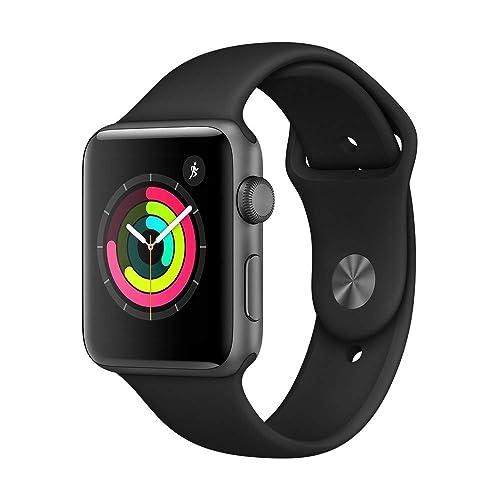 836385520 Apple Watch Series 3 (GPS, 42mm) - Space Grey Aluminium Case with Black