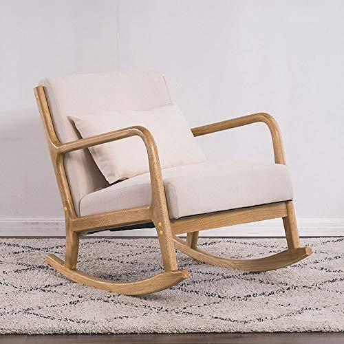 Stoel Pigra, kruk, schommelstoel Balcone Pigro, massief hout, creatieve stoel Pigro Nordic, woonkamer van de vrije tijd, comfortabel