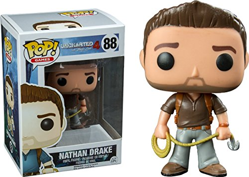 Funko POP! Games Nathan Drake Uncharted 4 Brown Shirt Vinyl Figure #88 Exclusive by OPP