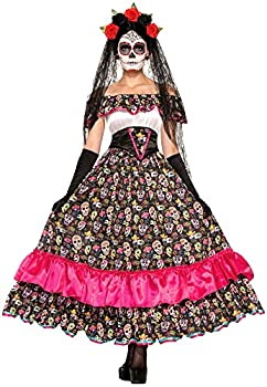 Forum Novelties Women s Day Of Dead Spanish Lady Costume Multi Standard