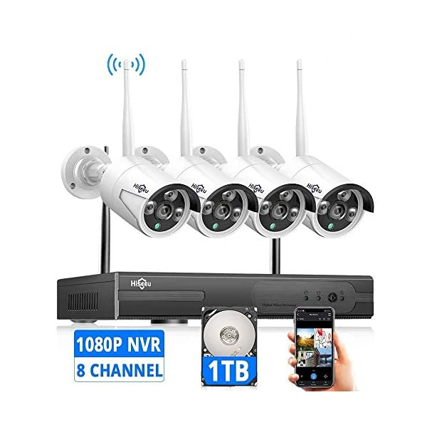 [Expandable 8CH] Hiseeu Wireless Security Camera System with 1TB Hard Drive with...