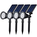 [200 lúmenes & 4Packs] Luz Solar/foco LED Impermeable...