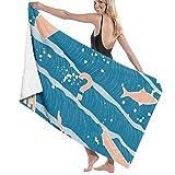 If Not Ola y casa Naranja Toalla de Playa Envoltura de baño Toalla de Ducha Manta de Playa para Deportes Piscina Baño