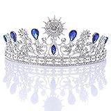 Pixnor Fiesta Corona del Rhinestone cristal decoración diadema velo Tiara nupcial de boda...