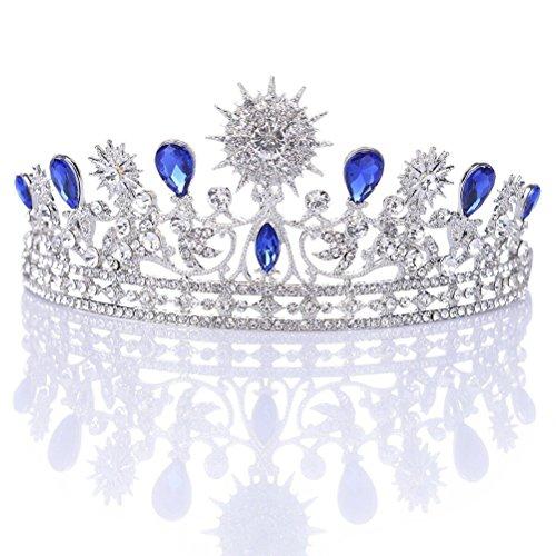 Pixnor Fiesta Corona del Rhinestone cristal decoración diadema velo Tiara nupcial de...
