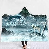 大人の子供たちの女性の男性の岬の岬の包装ローブの毛布の着用スロークロークソファ抱き目を着用する冬暖かい (Color : Blanket4667, Size : 150x200cm)