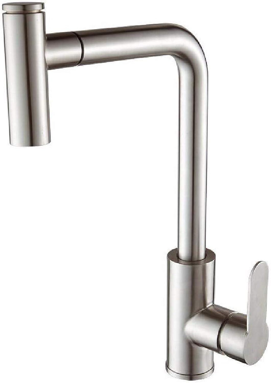 SCJ Küchenarmatur Küchenarmatur hei und kalt 304 Edelstahl kann parallel Sein Pull Rotary Küchenarmatur.