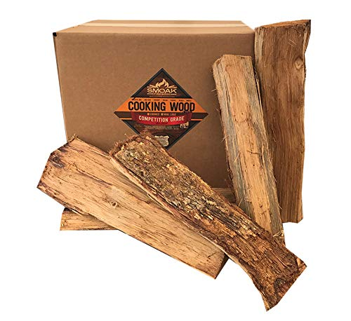 Smoak Firewood Cooking Wood Logs - USDA Certified Kiln Dried (Maple, 16in Pieces (60-70lbs))