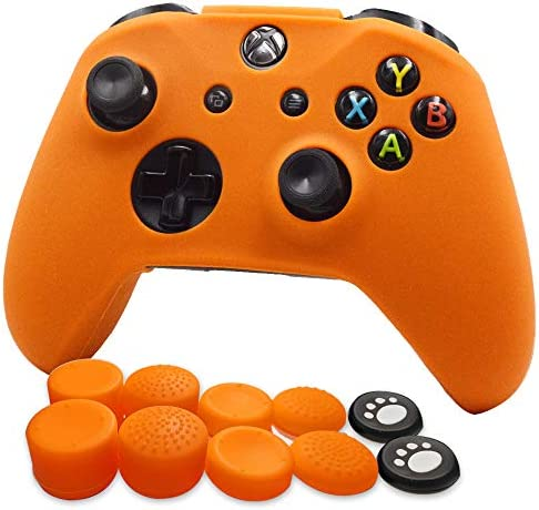 FOTTCZ Anti Slip Soft Silicone Cover Skin Set for Microsoft Xbox One Controller which 1pcs Orange product image