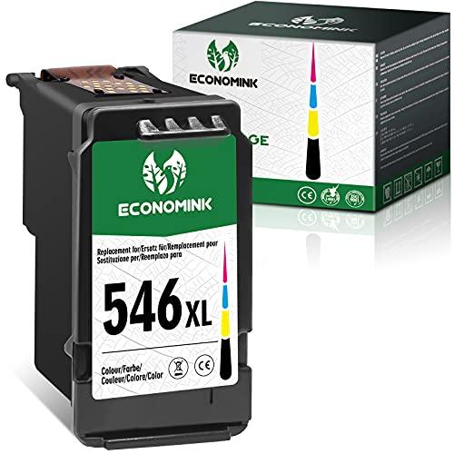 Economink CL546 Cartuchos de tinta Reciclados para Canon 546 Canon 546 xl para Canon Pixma MX495 TS3150 MG2550 MG2950 MG2550s MG2555s TR4550 MG2450 TS3350 TS3151 MG3052 (1 Tri-color)