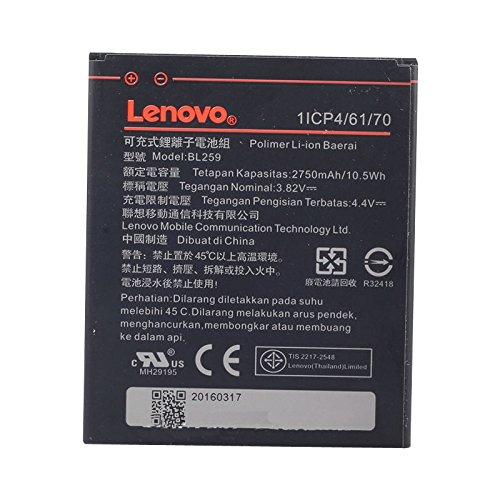 GLITZY GIZMOS LENOVO BL259 BATTERY FOR LEMON K3 K5 K5+ K32C36 2750mAh (None Retail Packaging)