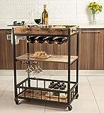 Tayene Bar Serving Cart Home Myra Rustic Mobile Kitchen...