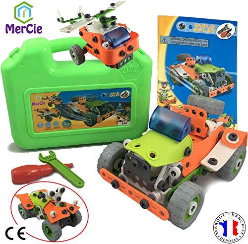 5 in 1 constructiespeelgoed | 161 onderdelen om auto's, vliegtuigen, helikopters, quads en robots te bouwen. Tools + gedetailleerd boekje voor elk model | Engineering speelgoed voor kinderen 5 6 7 8 9 10+ jaar