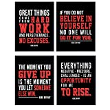 Kobe Bryant Motivational Quotes Set - 8x10 Basketball Posters - Gift for Sports Fans, Men, Boys, Teens - Inspirational Wall Decor, Art Decorations for Office, Bedroom, Living Room - UNFRAMED Prints