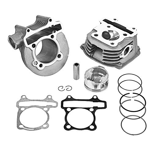 GY6 125cc/150cc Engine Upgrade to 180cc with Cylinder Head Valves and Rebuilt Kit, 61mm Big Bore kits with Piston and Ring Assy for 152QMI 157QMJ Engine Chinese Scooter Moped ATV Go Kart Quad