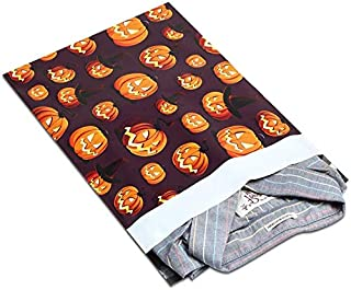 CHAHANG 100pcs 25.5x33cm 10x13 Inch Halloween Designer Poly Mailers Self-styled Plastic Envelope Bag/Snowman Pattern Gift ...