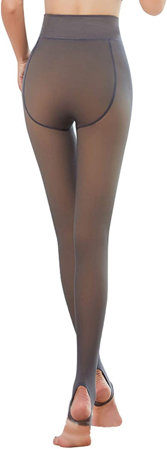 Winter Thick Warm Stockings Leggings, Thick Warm Pantyhose for Women Stretchable Control-Top Tights Slimming Silk Sheer
