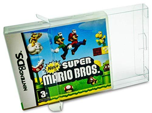 10 x Klarsicht Schutzhüllen für Nintendo DS OVP 0,3mm Passgenau und Glasklar-PET-Reset Retro Game Protectors-cases-box-Staubdicht-UV-Schutz