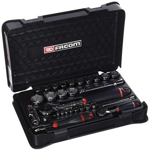 Facom RS.161-1PB - Estuche de sujeción, color negro, 1/4'/1/2', juego de 33 piezas