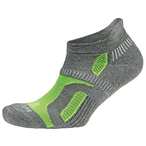 Balega Socken für Damen & Herren, versteckte Konturen, 1 Paar, Damen, Hidden contour, Anthrazit/Neongrün, Medium