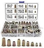 Inserto Filettato 150 Pezzi Dadi esagonali M4/ M5/ M6/ M8 Inserti a Vite di Strumenti Assortimento per Noci per Mobili in Legno