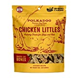Polkadog Chicken Littles Bone Shaped Dog Treats, Cat Snacks – All-Natural Pet Treats for Kittens, Puppies – Bite-Sized, Crunchy Snack for Dogs, Cats – 3 Ingredients – 8 oz.