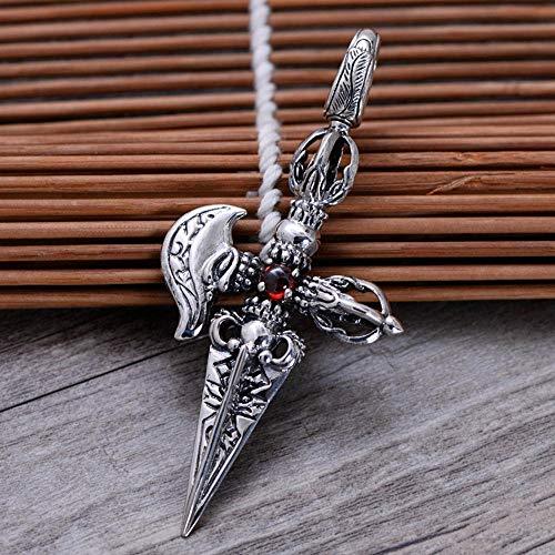 Yarmy S925 - Collar de plata de ley para hombre con colgante...