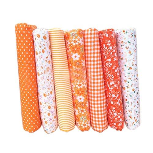 7pcs Baumwolltuch Textilhandwerk Stoff Bundle Patchwork Stoff DIY Nähen Quilten Blumenmuster