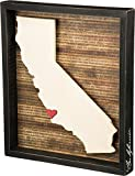 Primitives by Kathy Wanderlust Box Sign, 13.5 x 15.5-Inch, California