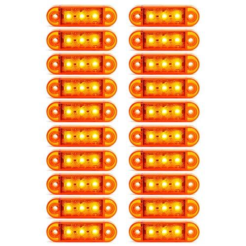 20x LED 12/24V Gelb Begrenzungsleuchte Umrissleuchte Positionsleuchte LKW PKW