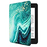 CoBak Kindle Paperwhite Case - All New PU Leather Smart Cover with Auto Sleep Wake Feature for Kindle Paperwhite 10th Generation 2018 Released,Marble