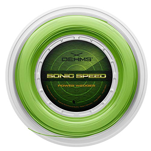 Oehms Sonic Speed Power Wedges | Profilierte Co-Polyester Tennis-Saite | 200 m Rolle | 1.15 mm