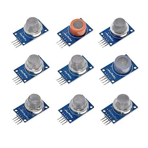 Elektronisches Zubehör MQ-2 MQ 3-MQ-4 MQ-5 MQ-6 MQ-7 MQ-8 MQ-9-135 MQ Detektion Smoke Methan verflüssigtem Gas-Sensor-Modul for Arduino Starter Kit DIY Accessory (Size : MQ-2)
