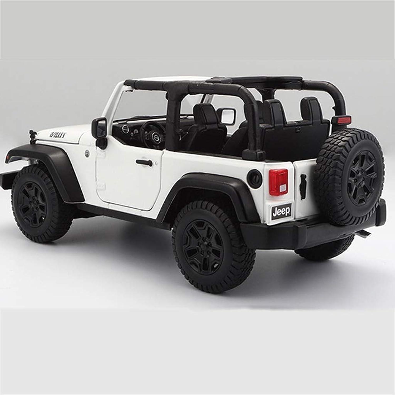 en venta en línea AGWa AGWa AGWa Modelo de báscula Vehículo de simulación 1 18 Jeep Wrangler Modelo de coche deportivo Simulación de aleación Modelo de coche deportivo estupendo Colección de decoración de regalos Regalo  Con 100% de calidad y servicio de% 100.