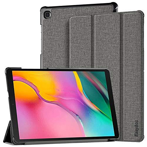 EasyAcc Hülle für Samsung Galaxy Tab A 10.1 2019 T510/ T515 - Ultra Dünn mit Standfunktion Slim PU Leder Smart Schutzhülle Passt für Samsung Galaxy Tab A T510/ T515 10.1 Zoll 2019, Grau