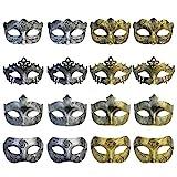 Yookat 16 Pcs Masquerade Masks Vintage Antique Masks Venetian Masks