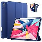 Ztotop Hülle für iPad Pro 12.9 Zoll 2018, Ultradünne Smart Cover Schutzhülle mit Stifthalter, Automatischem Schlaf/Aufwach, Unterstützt Das Aufladen des iPad Pencil, für iPad Pro 12.9 2018 - Blau