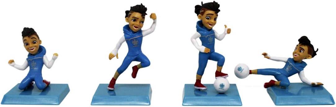 UEFA EURO 2020™ - Juego de 4 figuras coleccionables – Mascota oficial Skillzy – Figuras de aprox. 6 cm de tamaño.