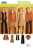 Simplicity Karen Z Easy-to-Sew Pattern 2866 Misses Pants, Jumper or Top, Jacket or Vest, Belt Sizes 10-12-14-16-18