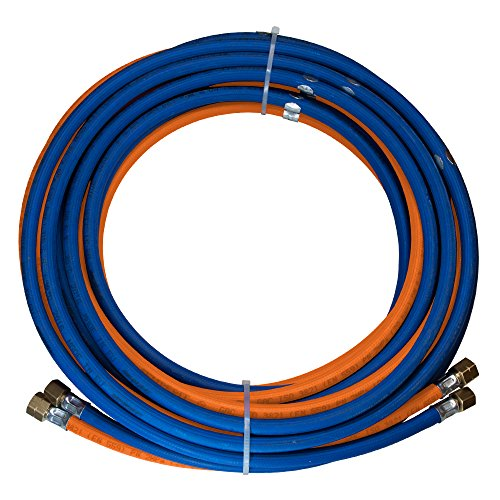 SCAPP Autogenschlauch (dünn) 11/11 Propan/Sauerstoff, mit 1 Schlauchschelle je lfm, Länge 5 Meter (andere Längen auswählbar)